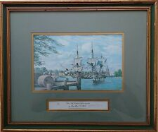 MARK MYERS, PENCIL SIGNED LIMITED EDITION PRINT TOBACCO SHIP LOADING IN VERGINIA