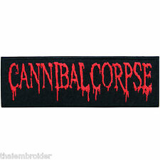 Cannibal Corpse Logo Sew Embroidered Iron on Patch Jacket Vest Cap T Shirt #S013