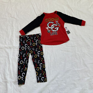 Coogi baby Girls Kids , 2 pieces Set , Red , Size 2T , 100% Cotton