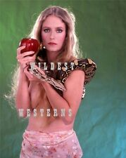 Sexy Busty EVE PLUMB Snake Photo BARE BELLY BUTTON Brady Bunch Girl HOT