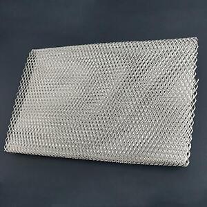 100x30cm Universa Silver Car metal  Grille Mesh vent durable tuning net  bumper