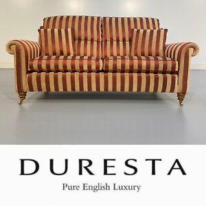 RRP £3499 (Current Model) Immaculate Duresta Medium 2.5 Seat Sofa (Russet/Stone)