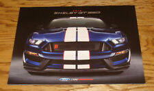 Original 2018 Ford Mustang Shelby GT 350 Foldout Sales Brochure 18