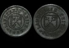 NOTGELD: 5 & 10 Pfennig 1919. LANDKREIS ZEITZ / PROVINZ SACHSEN.