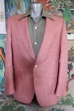 50's Vintage Malibu Hollywood Pink Atomic Fleck Print Sportscoat Jacket 40