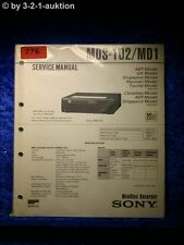 Sony Service Manual MDS 102 / MD1 (#0776)