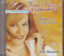 Jenni Rivera Si Quieres Verme Llorar Con Mariachi CD New Nuevo sealed