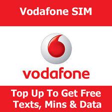 Vodafone tarjeta SIM para todos los teléfonos inteligentes de Vodafone-get free minutos, los textos y datos