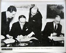 PHOTO PARIS SOIR 1936 SIGNATURE DU TRAITÉ DE COMMERCE FRANCO YOUGOSLAVE d621