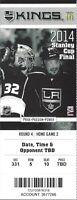 2013-14 NHL STANLEY CUP FINALS RANGERS @ LA KINGS FULL UNUSED TICKET - GAME #2