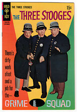 THE THREE STOOGES #40 8.5 WHITE PAGES SILVER AGE