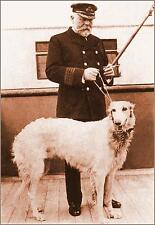 "Photo: 5"" x 7"": SEPIA: Captain Smith & His Dog 'Ben'  On Titanic,  April, 1912"