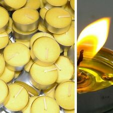 Mosquito Repellent Citronella Tealight Candles Outdoor Garden 50 Pack Yellow