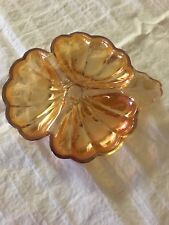 Antique Carnival Glass Candy Dish / Nut