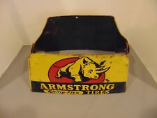 Vintage Armstrong Tires Sign Tire Display Stand Stout Sign Co.