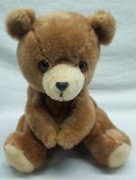 "Dakin VINTAGE CUTE BROWN TEDDY BEAR 9"" Plush Stuffed Animal Toy 1977"