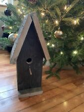 Rustic Antique Handmade Barn Wood Birdhouse 19x8