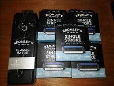 NEW Bromley's Classic Razor & 20 Cartridge Refills