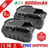 2X 18V 6.0Ah Li-Ion Battery for RIDGID R840087 R840085 R840083 High Capacity New