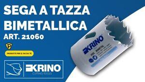 SEGA A TAZZA BIMETALLICA KRINO HSS PER METALLO LEGNO PLASTICA ACCIAIO FRESA