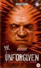 WWE Unforgiven 2003 DVD orig WWF wrestling Triple H vs Goldberg