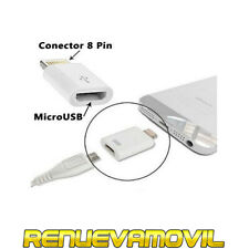 Adaptador De Micro USB a 8 Pin Lightning Compatible Con iPhone 6 6S Plus 5S 5C