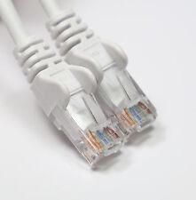 RJ45 ETHERNET LAN PATCH NETWORK CABLE CAT 5 10/100 WHITE 25cm SHORT CAT5E