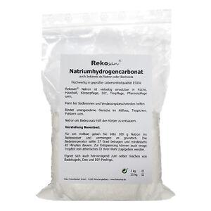 Rekosan Natron 1 kg Natriumhydrogencarbonat Backsoda Lebensmittel E500ii