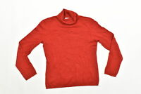 Women's Charter Club Turtleneck Sweater  M Red Long Sleeve Solid Cashmere