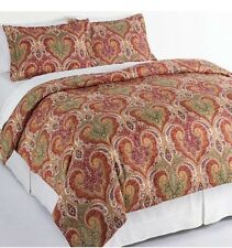 Traditional King Nib 3Pc Cotton Milano Mulit-Color Paisley Duvet Cover/Shams Set