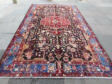 Vintage Hand Made Traditional Oriental Wool Blue Large Rug Carpet 371x210cm