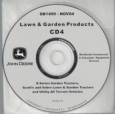 JOHN DEERE X-Series Garden Tractors Scott's Sabre etc 16 Technical Manuals on CD