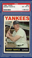 1964 Topps #50 MICKEY MANTLE (HOF) - 536 HRs - New York Yankees - PSA 6 EXMT