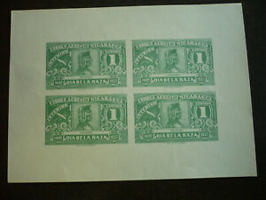 Stamps - Nicaragua - Scott# C215 - Souvenir Sheet - Imperf