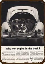 1959 VOLKSWAGEN BEETLE VW BUG CAR Vintage Look Replica Metal Sign ENGINE IN BACK