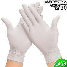 99 GUANTES DE LATEX DESECHABLE MEDICO HOGAR TRABAJO AMBIDIESTRO TALLA MEDIANA