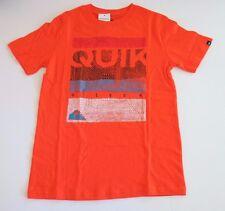 NWT Quiksilver Big Boys M Short Sleeve MW Tee T-Shirt Bright Orange Dotty Logo