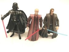 Star Wars RotS Darth Vader, Darth Sidious/Palaptine, Anakin Skywalker figures