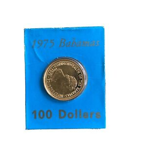 1975 Commonwealth of the Bahamas Gold 100 Dollar Coin