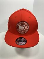 New Era 9FIFTY Red Atlanta Hawks SnapBack Flat Bill Cap, NEW!