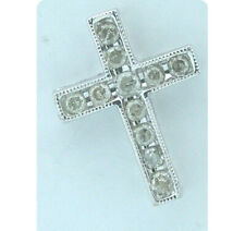Pendant Diamond Cross 10K White Gold