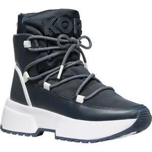 MICHAEL Michael Kors Womens Cassia Leather Winter Boots Shoes BHFO 1246