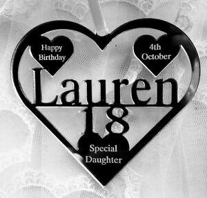 18TH BIRTHDAY GIFT PERSONALISED WITH NAME ,BIRTH DATE, KEEPSAKE HAND MADE LAUREN