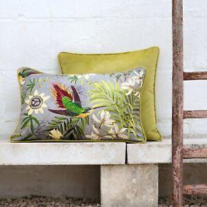 """stoffdesign!""FANTASTIC BIRDS *Stoff fabric Meterware Vögel Leinen grau Chivasso"