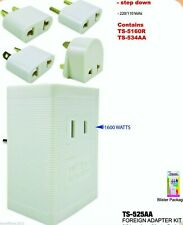 220V to 110V US To Foreign Travel Voltage Power Converter Adapter 1600 Watts Kit