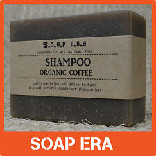 1 x Coffee shampoo BAR-for all types of hair-Odour remover natural handmade Soap