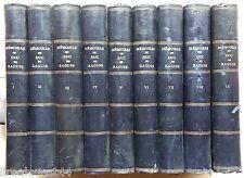 Mémoires du Duc de Raguse de 1792 a 1832 Perrotin 9 volumes 1857