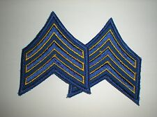 MILITARY/POLICE COSTUME SERGEANT RANK STRIPES - YELLOW/ BLUE - 1 PAIR