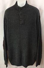 CHAPS Sweater Mans Plus Sz. 2XT Gray Beautiful 100% Cotton EUC