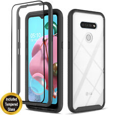 For LG Stylo 6 Case, Transparent Drop Proof Cover + Tempered Glass Protector
